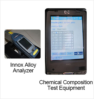 Chemical Composition Test Equipment